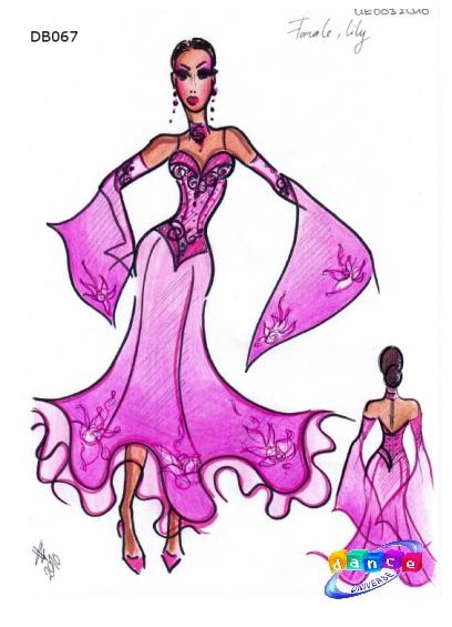 Эскизы платьев для бальных танцев