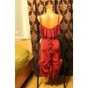 Бордовое платье для танцев