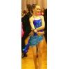 Дизайнерское бальное платье La  цвета ультрамарин