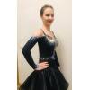 Black and Blue Latin Dress