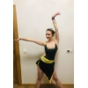 Black and Yellow Latin Dress