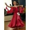 Малиновое бальное платье St
