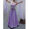 Нежное сиреневое платье для стандарта недорого