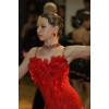 Платье La ярко-красного цвета