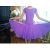 Лиловое латье для бальных танцев