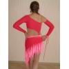 Продам бально-спортивное ало-красное платье для La со стразами,        рост 165-168,        размер подходит от 42-44